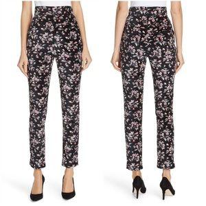 NWT Rebecca Taylor Tilda Floral Velvet Ankle Pants